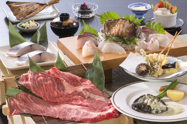 松阪肉・鮑つがいコース