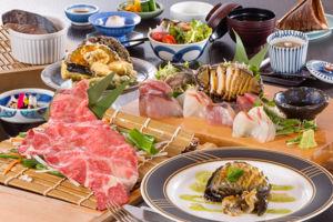 松坂肉鮑つがいコース